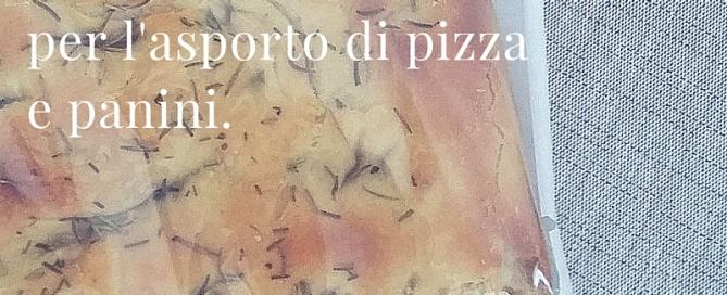 Nuovo sacchetto perl'asporto di pizza e panini.