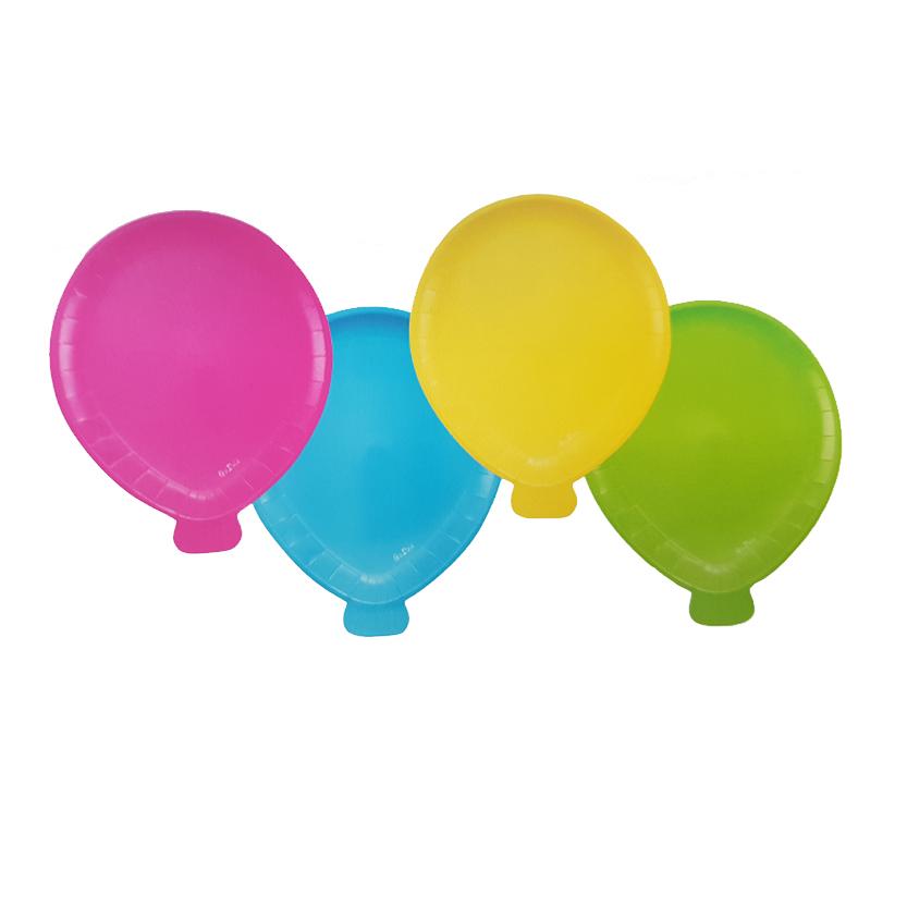 piatto in cartone palloncini