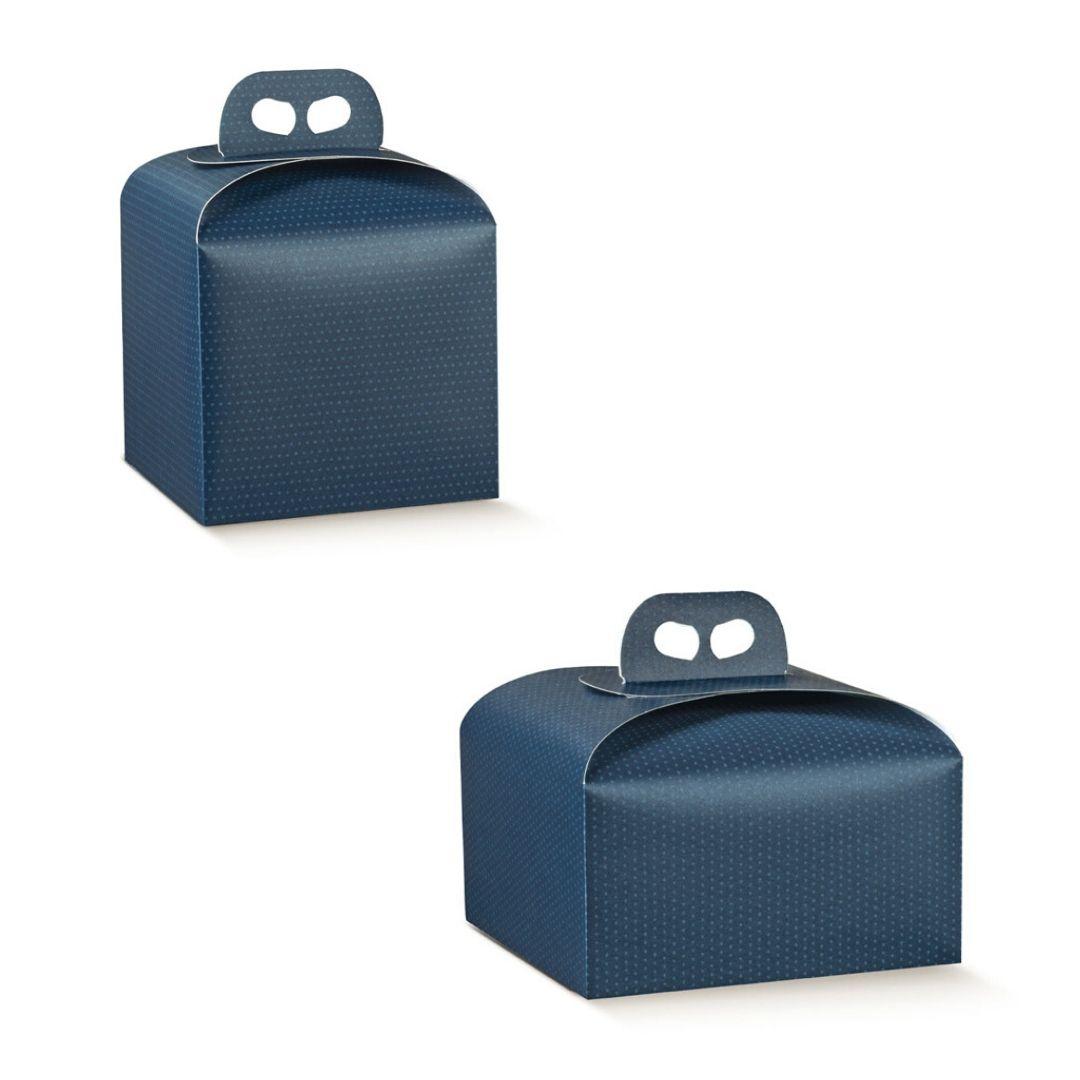 gruppo scatole panettone nuove blu