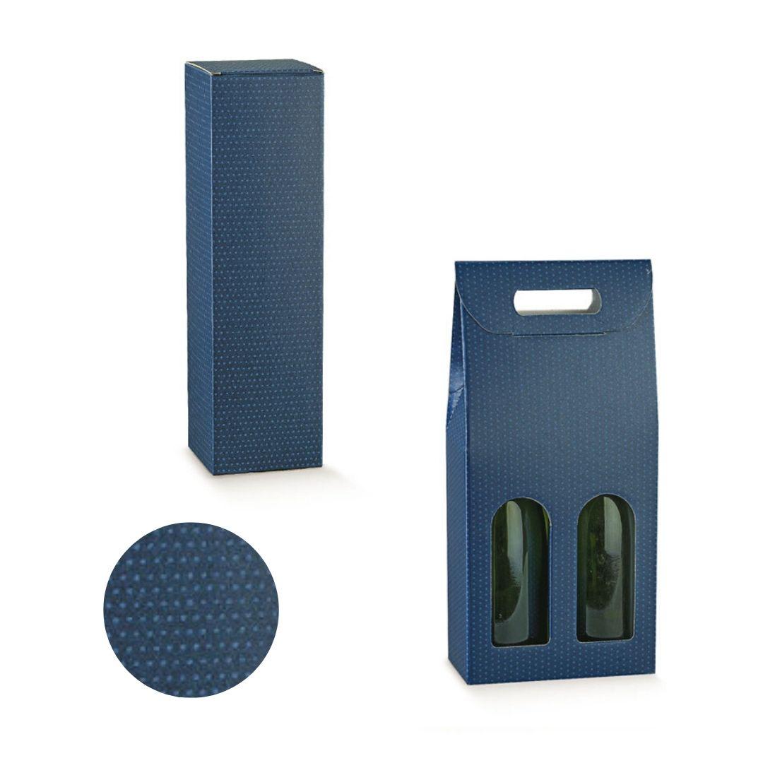 scatola portabottiglie blu gruppo