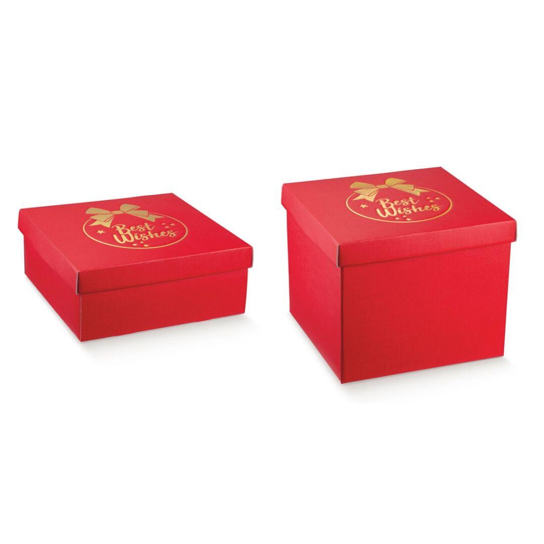 scatole rosse con coperchio gruppo 36272