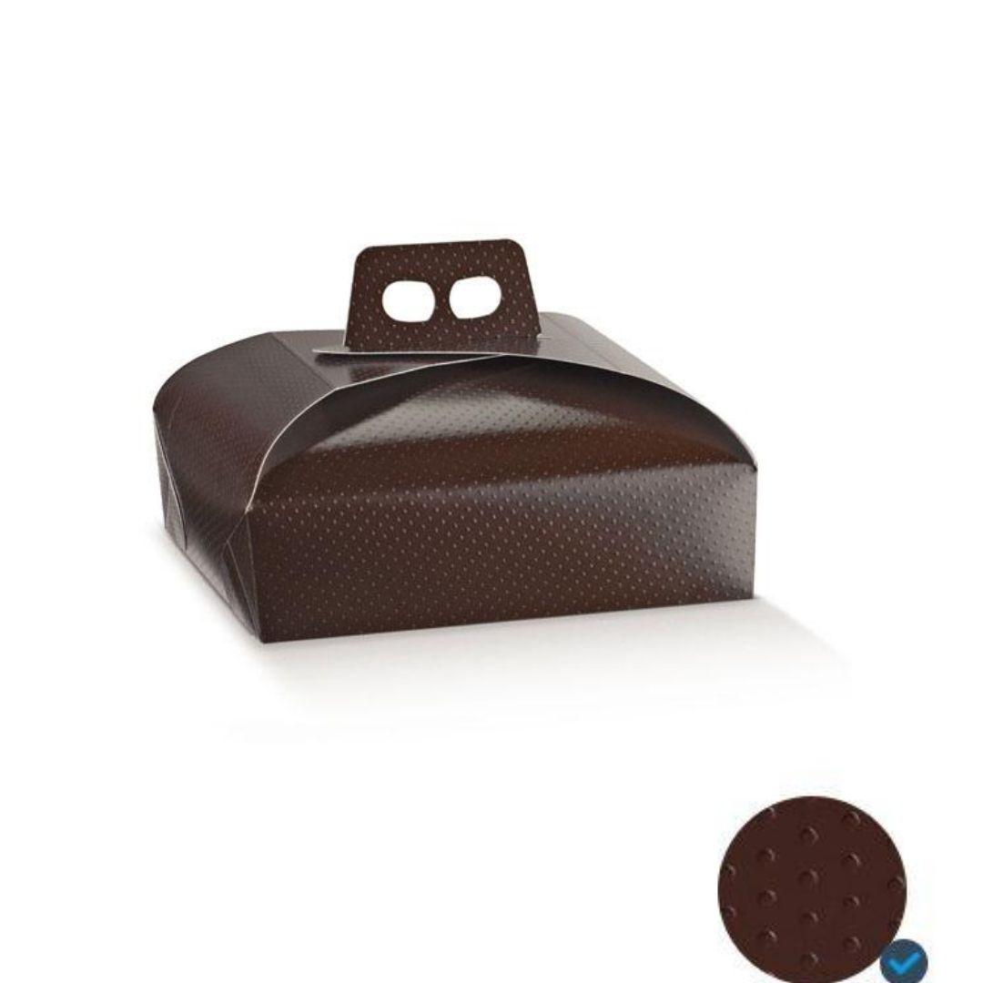 scatola porta torte marrone 36943c