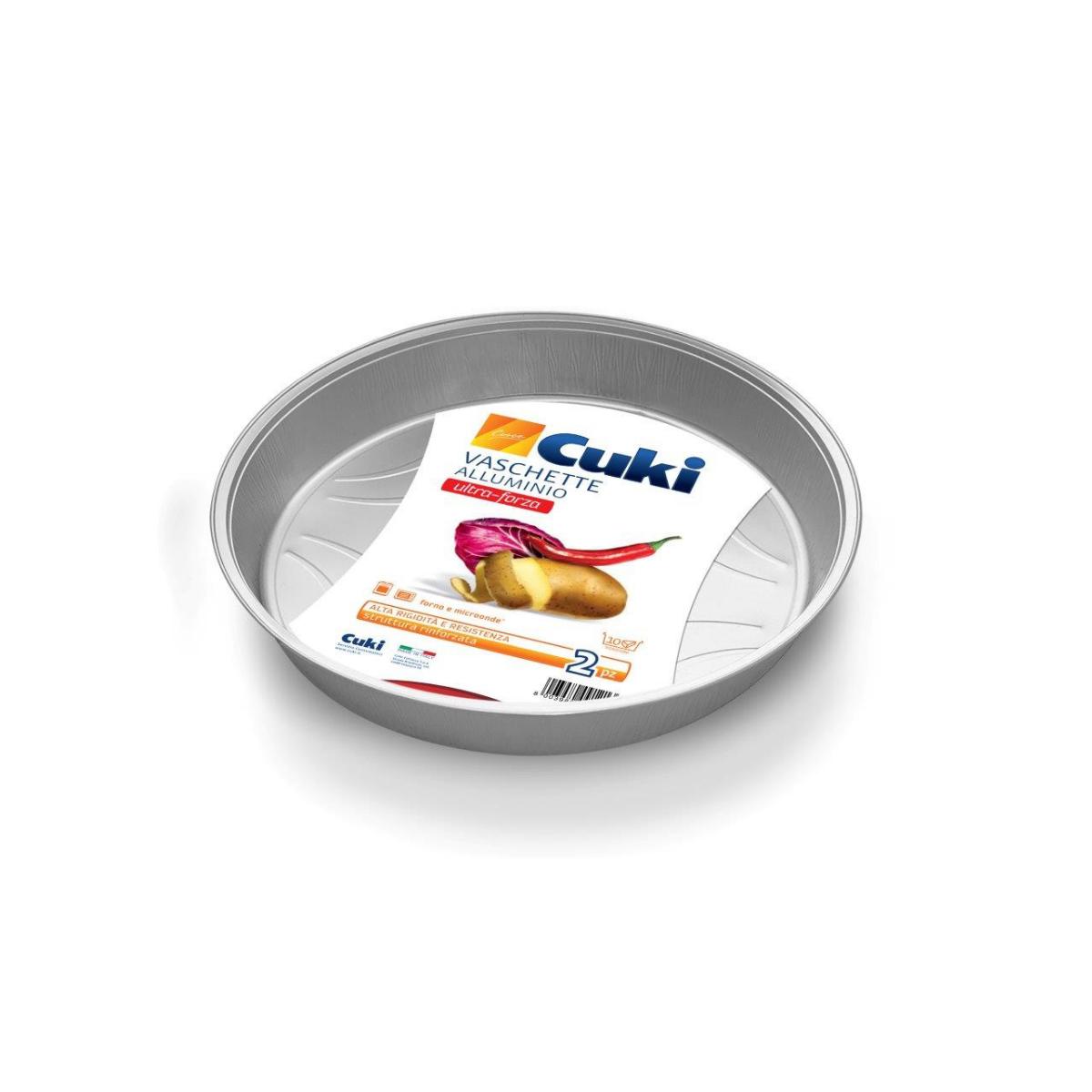 vaschetta alluminio cuki rotonda cod 315183